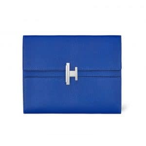 Hermes Bleu Electrique Cinhetic Clutch Bag
