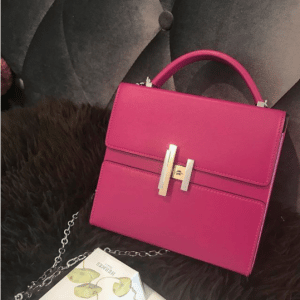 Hermes Rose Poudre Cinhetic Bag