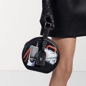 Louis Vuitton Black Printed Petite Boite Chapeau Bag - Pre-Fall 2018
