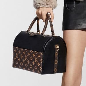 Louis Vuitton Black/Monogram Canvas Speedy Doctor Bag - Pre-Fall 2018