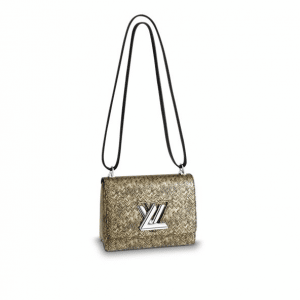 Louis Vuitton Gold Chevron Epi Twist PM Bag