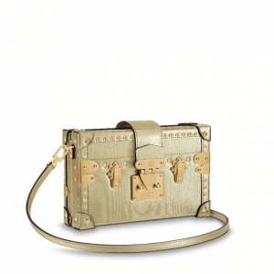 Louis Vuitton Gold Petite Malle Bag