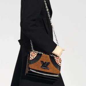 Louis Vuitton Monogram Canvas/Leopard Print Twist Bag - Pre-Fall 2018