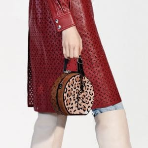 Louis Vuitton Monogram Reverse/Leopard Print Petite Boite Chapeau Bag - Pre-Fall 2018