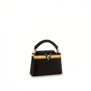 Louis Vuitton Noir Galon d'Or Capucines Mini Bag