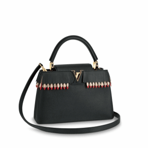 Louis Vuitton Noir Lucky Ribbons Capucines PM Bag