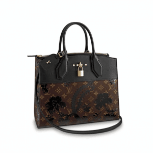 Louis Vuitton Noir Monogram Blossom City Steamer MM Bag