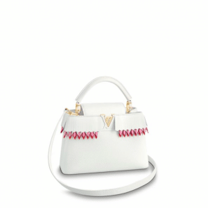 Louis Vuitton White Lucky Ribbons Capucines BB Bag