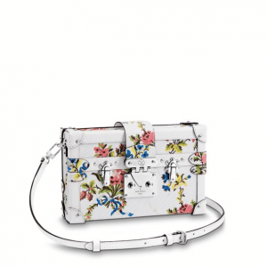 Louis Vuitton White Romantic Blossom Epi Petite Malle Bag