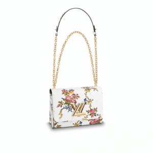 Louis Vuitton White Romantic Blossom Epi Twist MM Bag