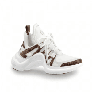 Louis Vuitton White/Monogram Canvas Archlight Sneakers
