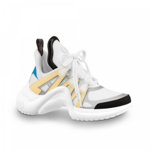 Louis Vuitton White/Yellow Archlight Sneakers