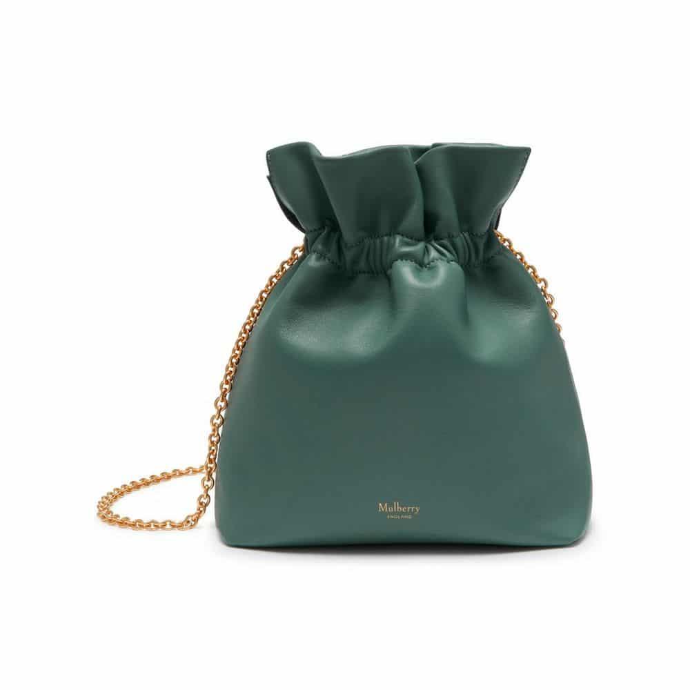 09e550d1d8 Mulberry Antique Blue Lynton Mini Bucket Bag