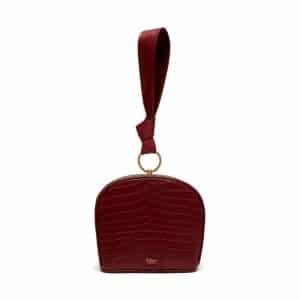 Mulberry Antique Ruby Croc-Embossed Nappa Minety Clutch Bag