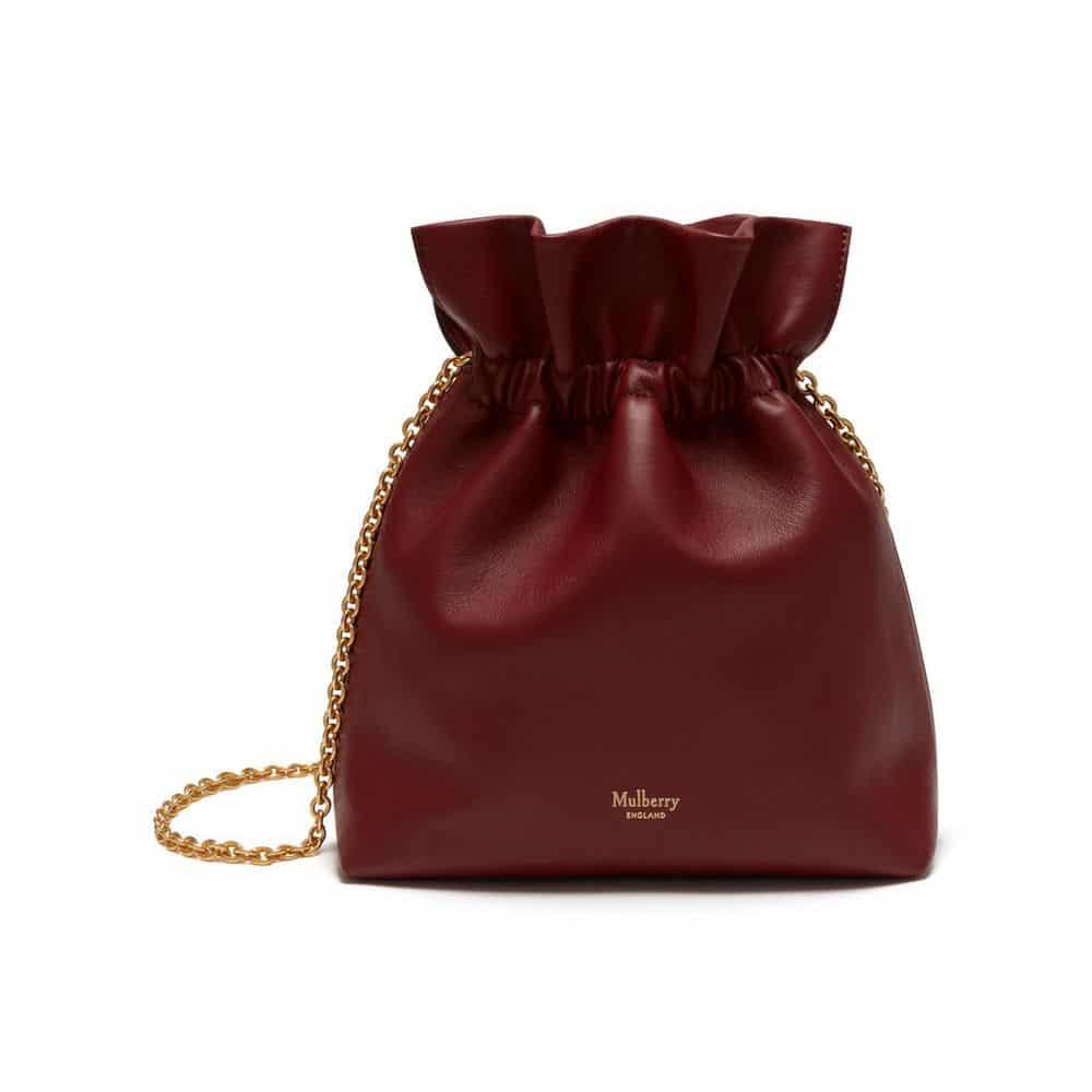 d523a98df3 Mulberry Antique Ruby Lynton Mini Bucket Bag