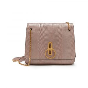 Mulberry Ballerina Pink Python Marloes Satchel Bag