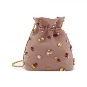 Mulberry Ballerina Soft Lamb Nappa with Jewels Lynton Mini Bucket Bag