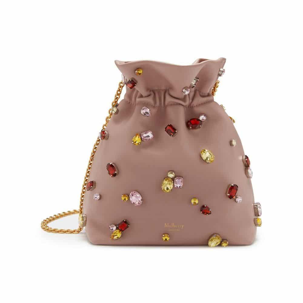 e0063827d2 Mulberry Ballerina Soft Lamb Nappa with Jewels Lynton Mini Bucket Bag