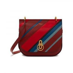 Mulberry Brick Diagonal Stripe Amberley Satchel Bag