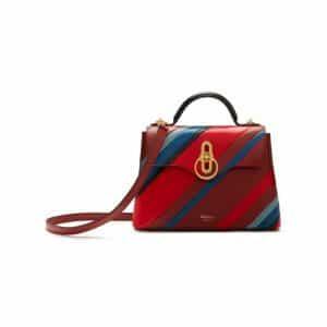 Mulberry Brick Diagonal Stripe Mini Seaton Bag