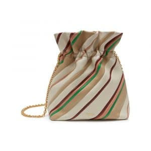 Mulberry Chalk Diagonal Stripe Lynton Mini Bucket Bag