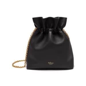 Mulberry Charcoal Grey Lynton Mini Bucket Bag