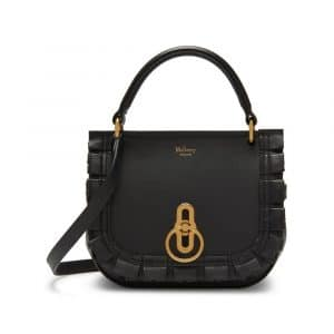Mulberry Charcoal Grey Small Amberley Satchel Bag