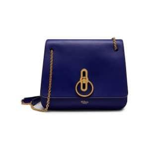 Mulberry Cobalt Blue Classic Grainy Calf Marloes Satchel Bag