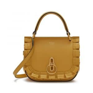 Mulberry Earth Yellow Small Amberley Satchel Bag