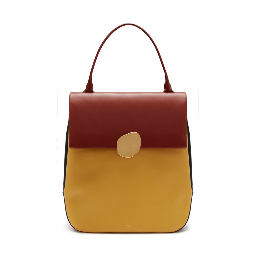 Mulberry Earth Yellow Smooth Calf Kemble Bag