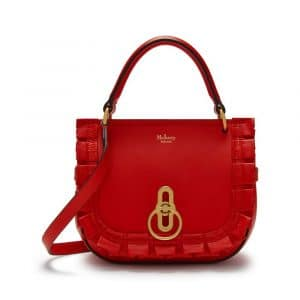 Mulberry Lipstick Red Small Amberley Satchel Bag