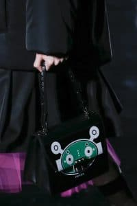 Prada Black Alien Printed Flap Bag - Fall 2018
