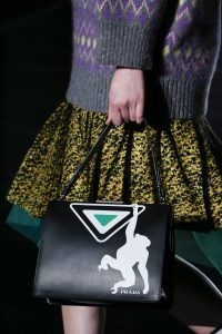 Prada Black Monkey Printed Frame Bag - Fall 2018