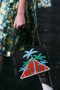 Prada Black Tree Printed Frame Bag - Fall 2018