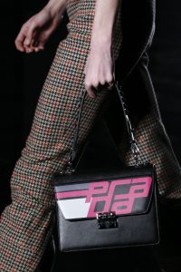 Prada Black/Pink Printed Flap Bag Fall 2018