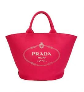 Prada Blush Canvas Small Tote Bag