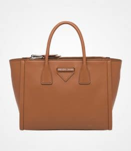 Prada Cognac Concept Top Handle Bag