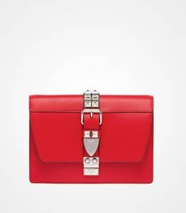 Prada Fire Engine Red/Black Elektra Calf Leather Bag