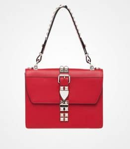 Prada Fire Engine Red/Black Elektra Shoulder Bag