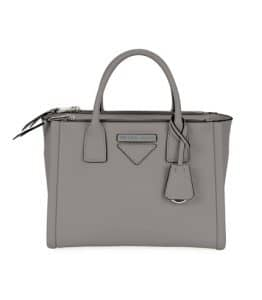 Prada Light Gray Concept Small Top Handle Bag
