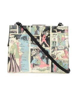 Prada Multicolor Cartoon Print Frame Shoulder Bag