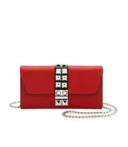 Prada Red Elektra Wallet On Chain Bag