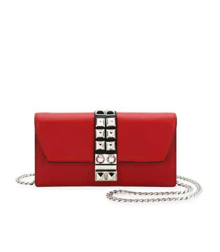Elektra studded clutch bag - Red Prada UNS13ck