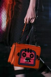 Prada Red/Pink Robot Printed Flap Bag - Fall 2018