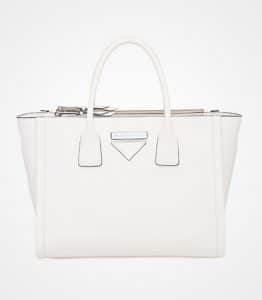 Prada White Concept Top Handle Bag