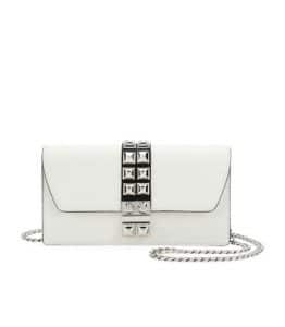 Prada White Elektra Wallet On Chain Bag