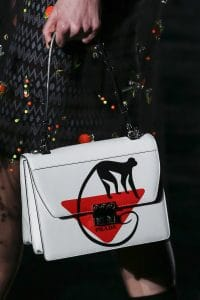 Prada White Printed Flap Bag - Fall 2018