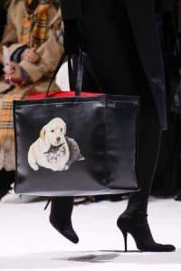 Balenciaga Black Dog Print Tote Bag 2 - Fall 2018