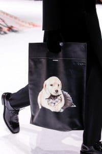 Balenciaga Black Dog Print Tote Bag - Fall 2018