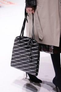 Balenciaga Black Logo Print Top Handle Bag 2 - Fall 2018